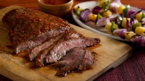 Glazed Peppered Steak
