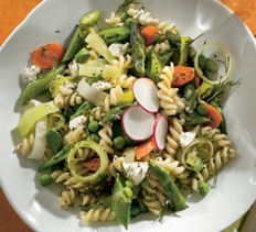 Spring Pea Pod and Asparagus Pasta